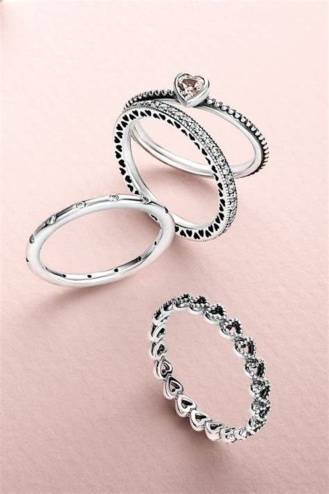 1000 ideas about pandora rings stacked on