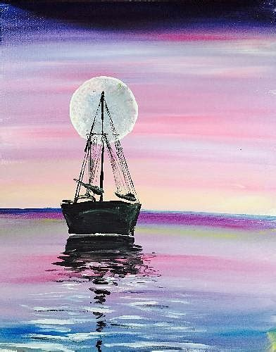 paint nite island events paint nite moon river 2