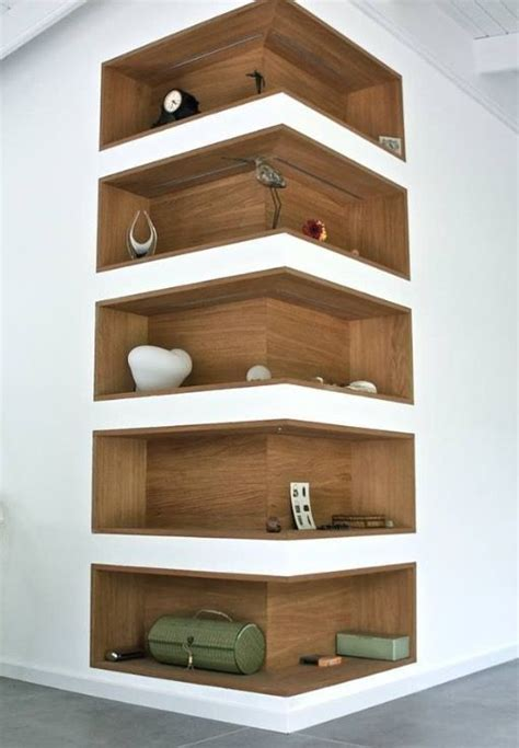 Corner Bookcase Ideas 17 Best Ideas About Corner Wall Shelves On Corner Wall Decor Wall Shelves And