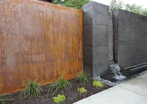 modern water feature landscaping in denver