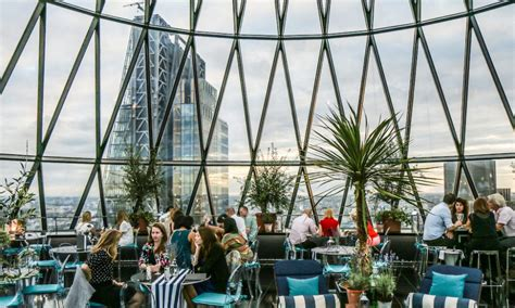 bar at the top of the gherkin summer sky riviera at the gherkin the ultimate high rise