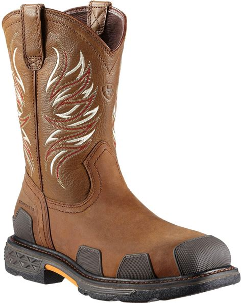 ariat overdrive work boots ariat overdrive pull on work boots composite toe sheplers