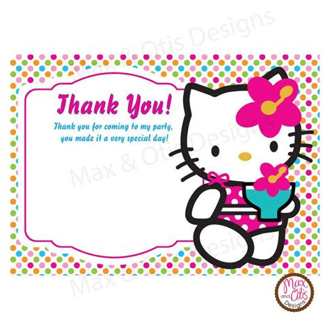 1st Birthday Thank You Card Free Template by Printable Thank You Card Hello Editable Pdf
