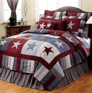 blue primitive americana 6pc king quilt set ebay
