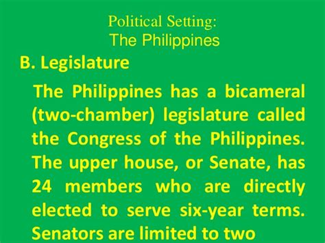 why is the senate called the upper house philippines political setting