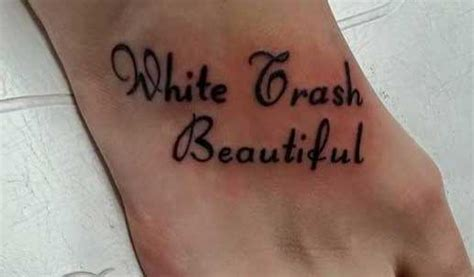 white trash tattoo the 20 worst moments in selfie stick history