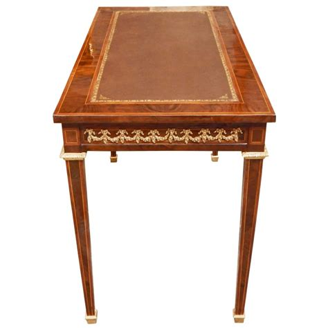 louis writing desk louis xvi style writing desk with marquetry and bronzes