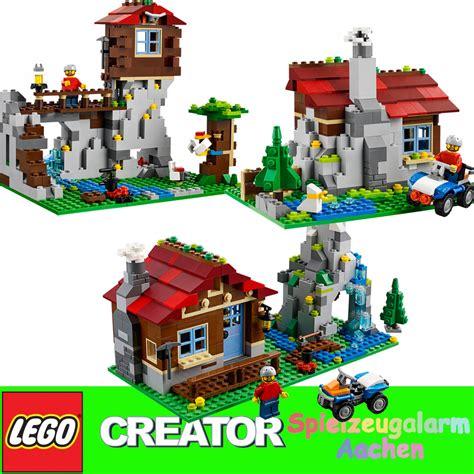 Lego Creator Mountain Hut 31025 lego 31025 creator 3in1 bergh 252 tte bergwarte blockhaus mountain hut mountaintop ebay