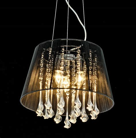 Drop Chandelier Shaded Crystal Drop Chandelier By Made With Love Designs