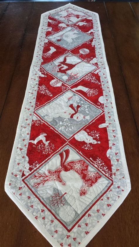 holiday runner ideas red white and silver christmas runners by