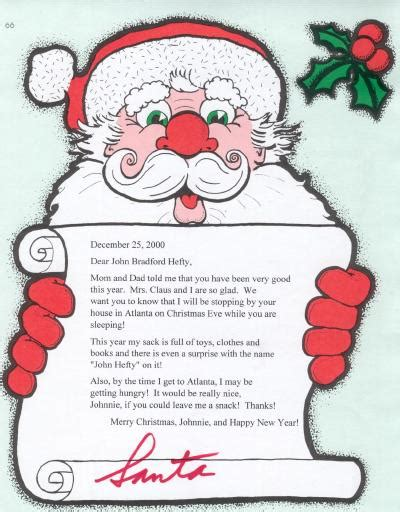 personalized letter from santa claus printable personalized letters from santa claus