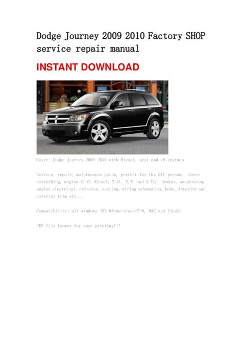 dodge journey 2009 2010 repair manual