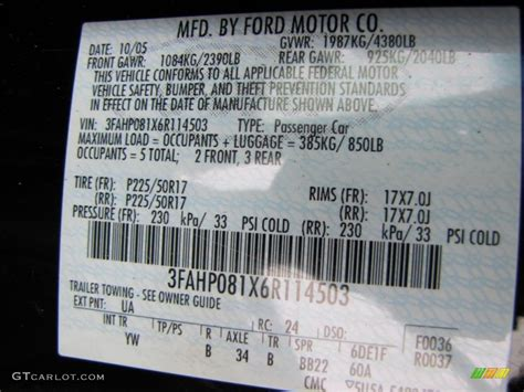 2006 fusion color code ua for black photo 77447472 gtcarlot