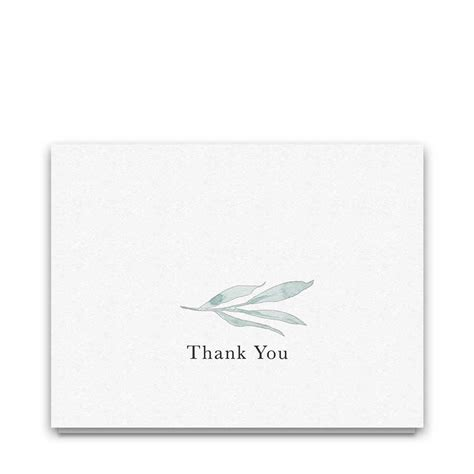 watercolor thank you card template wedding thank you cards greenery watercolor pale blue