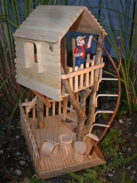 craft house the gallery for gt popsicle stick tree house easy