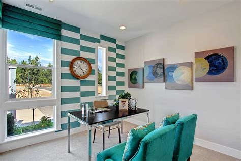 Wall Ideas For Office 10 Striped Home Office Accent Wall Ideas Inspirations