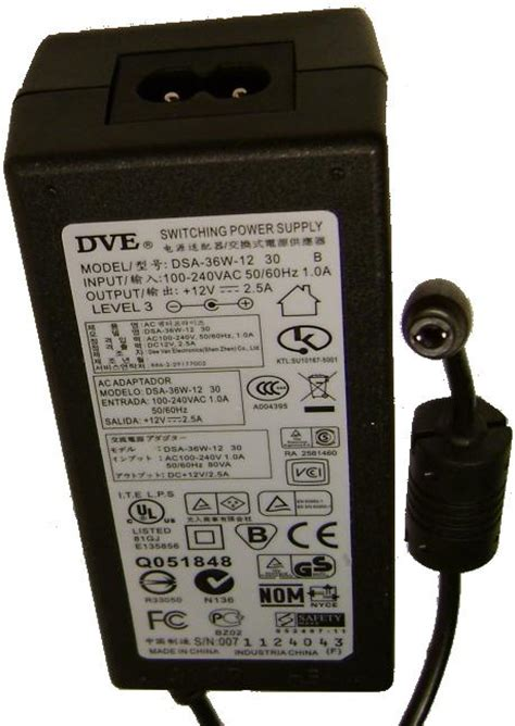 Adaptor Switching Dve 12v 1 5a laptop battery supply notebook batteries