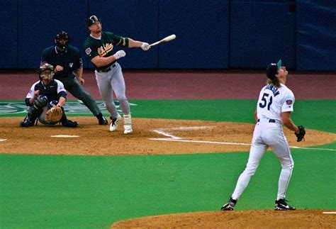 mark mcgwire swing from the archives new hall of famer randy johnson