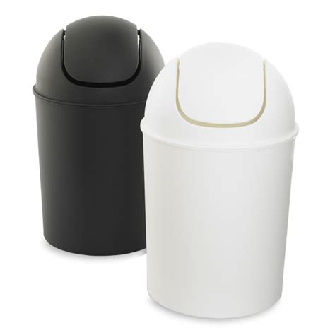 mini trash can with swing lid umbra mini swing lid trash cans the container store