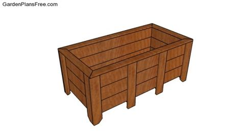 Large Planter Box Plans by Large Planter Box Plans Free Garden Plans How To Build