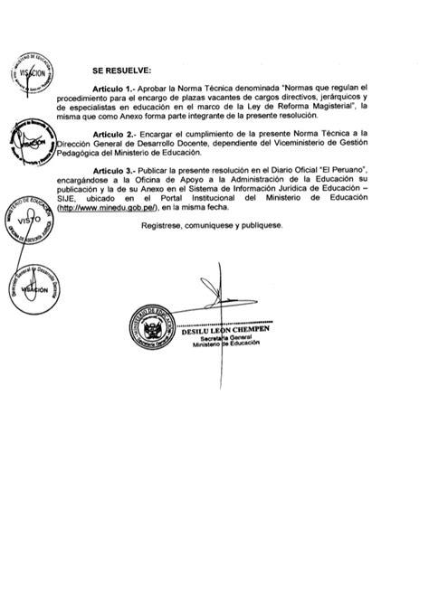 resolucion ministerial n199 2015 minedu resoluci 211 n de encargaturas de direcci 211 n 2015 2076 2014