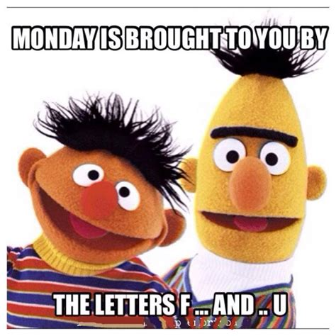 Funny Monday Memes - monday is brought to you by the letters f and u monday
