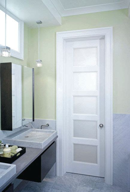 Interior Bathroom Doors by Frosted Glass Interior Doors 5 Panel Privacy Glass