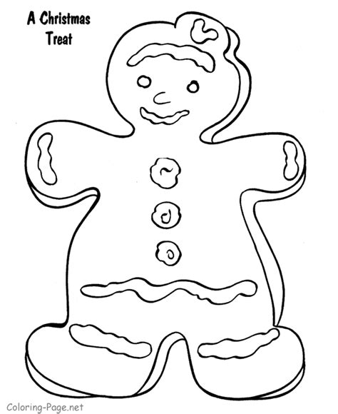 free coloring pages of running gingerbread man