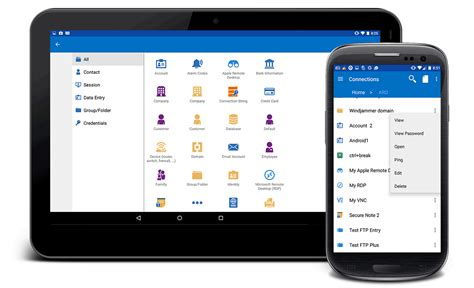 remote desktop manager android remote connection and password management software - Android Remote Desktop