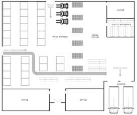 design a floor plan template warehouse layout design software free