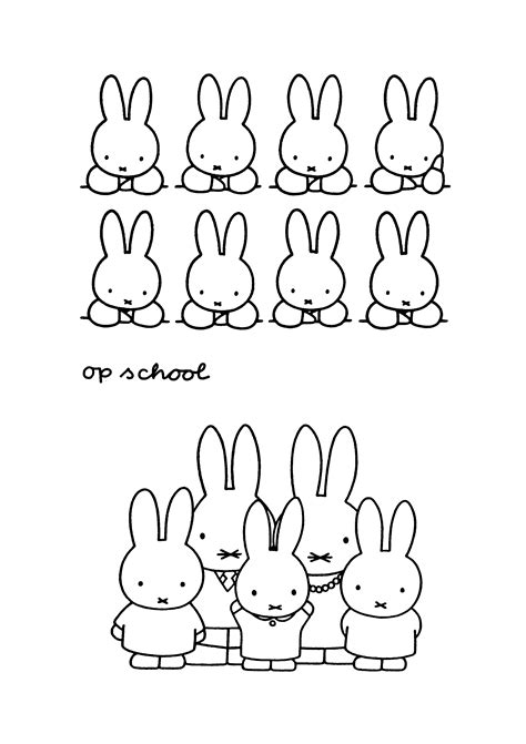 pages for miffy coloring pages coloringpages1001