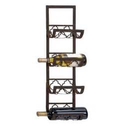 shop woodland imports 4 bottle wall mount wine rack at