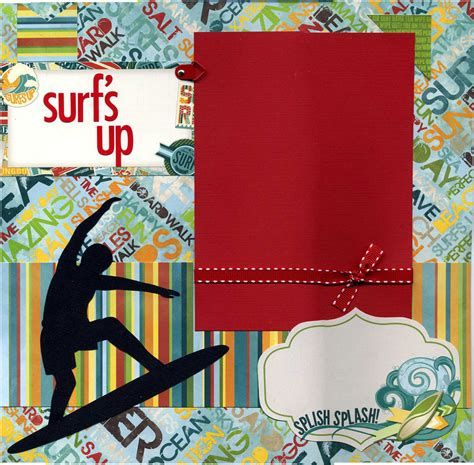 layout red riding hood australian scrapbook ideas surf s up premade scrapbook page from