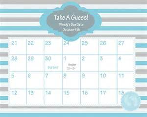 Baby Calendar Template by Printable Due Date Calendar Baby Shower By