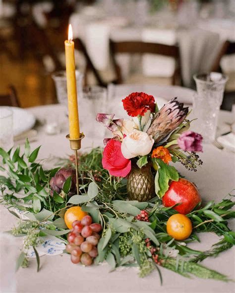 To Market Centerpiece by 26 Wedding Centerpieces Bursting With Fruits And