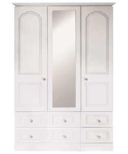 buy stratford 3 door mirrored wardrobe white at argos co