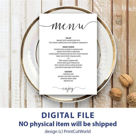 The 25 Best Wedding Menu Template Ideas On Pinterest Wedding Dinner Menu Simple Wedding Menu Wedding Table Menu Template