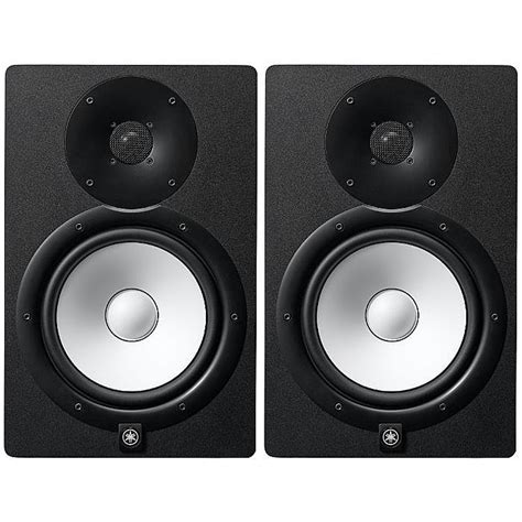 Yamaha Monitor Speaker yamaha yamaha hs8 powered studio monitor speakers black pair 230v only vinyl at juno records