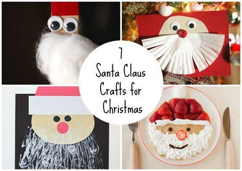 santa claus craft for 7 santa claus crafts for