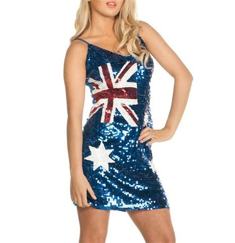 australia day aussies and sequin dress on