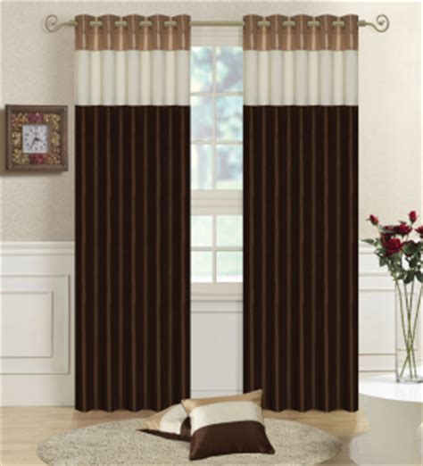 cream and chocolate curtains product detail page