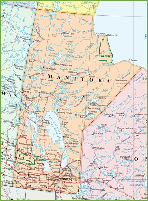 maps with towns large detailed map of manitoba with cities and towns
