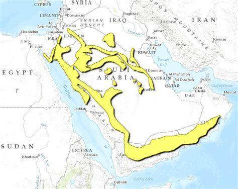 middle east map deserts arabian desertlocation 点力图库