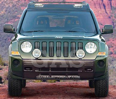 2010 Jeep Patriot Accessories Jeep Patriot Chrome Grill Custom Grille Grill Inserts