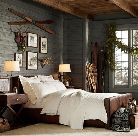 deco chambre chalet montagne d 233 co maison chambre de chalet de montagne aux tons gris