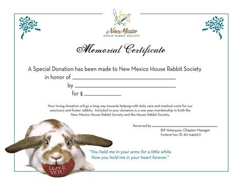 rabbit birth certificate template memorial certificate now available new mexico house