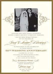 golden wedding anniversary invitation golden wedding anniversary invitation cards