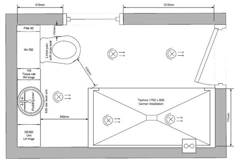 Floor Plans With Measurements by Design Soak Bathrooms