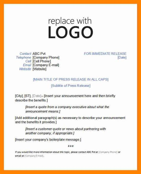 free press release templates free press release template calendar template letter