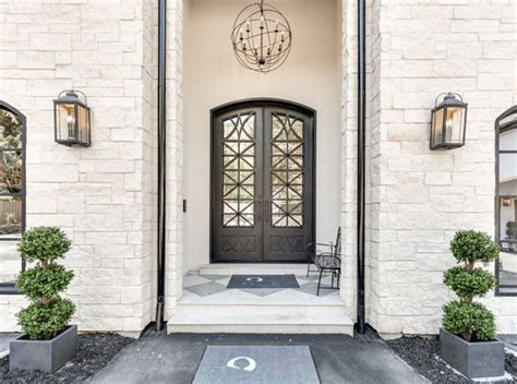 Iron Front Doors For Homes Modern Chateau Style Custom Home Design Home